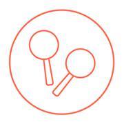Maracas line icon - stock illustration