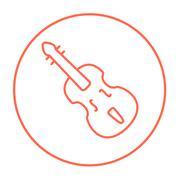 Cello line icon Stock Illustration