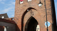 Stone Gate City in Paslek, Poland Stock Footage