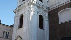 Church of Sacred Heart of Jesus in Poznan, Poland Stock Footage