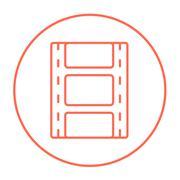 Negative line icon Stock Illustration