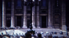 1954: Catholic Vatican City enclave Michelangelo's dome building. Stock Footage