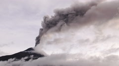 Large Quantity Of Volcano Ash Covers The Skies Over Tungurahua Volcano - stock footage
