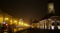Town Hall in Bialystok, Podlaskie, Poland Stock Footage