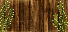 Rustic Wood Border Stock Illustration