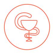 Pharmaceutical medical symbol line icon Stock Illustration