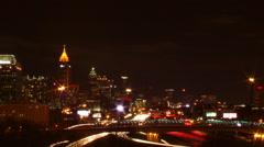 Tracking shot of day to night timelapse in Atlanta, Georgia. Stock Footage