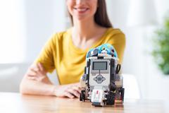 Robot in my life now Stock Photos