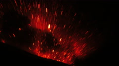 Extremely Violent Volcanic Eruption In The Night Stock Footage