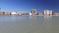 Clearwater Over the Water - stock footage
