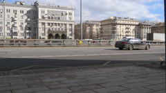 4K Urban Transport Traffic On Leningradskoye Shosse Timelapse, Moscow, Russia Stock Footage