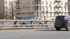 4K Urban Transport Traffic On Leningradskoye Shosse Timelapse, Moscow, Russia Stock Footage