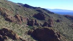 Tucson Rockface Stock Footage