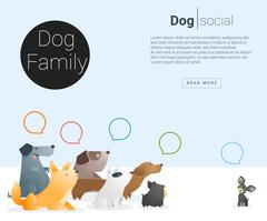 Animal banner with Dog for web design Stock Illustration