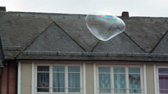 Magical huge soap bubble fly in the city, Frankfurt am Main, Germany Stock Footage