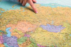 Russia on the world map. Kuvituskuvat