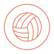 Volleyball ball line icon Piirros