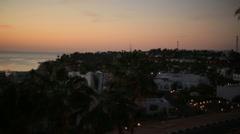 Beautiful egyptian seascape on sunset. Exotic honeymoon Stock Footage