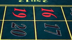 Stock Video Footage of Croupier twists chip on green table at casino, front view