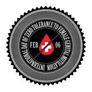 International Day of Zero Tolerance for Female Genital Mutilation - stock illustration