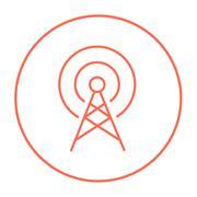 Antenna line icon - stock illustration