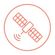 Satellite line icon Stock Illustration