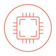 CPU line icon Stock Illustration
