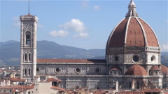 Santa Maria del Fiore - Duomo Cathedral in Florence, Italy - stock footage