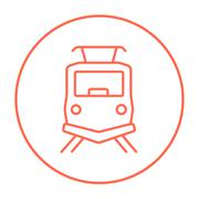 Front view of train line icon Piirros