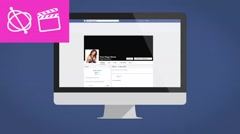 Stock After Effects of Facebook Desktop Intro - Apple Motion Template