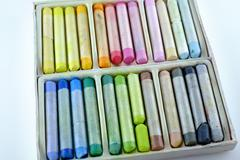 a set of pastels - stock photo
