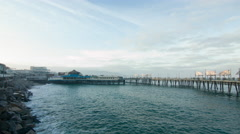 Quiet spring afternoon at Redondo Pier in California 4K Stock Footage