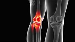 The skeletal knee Stock Footage