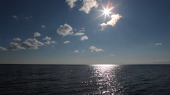 View from the boat walking on the sea Stock Footage