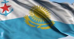 Stock Video Footage of Ultra realistic looping flag: Kazakhstan Naval