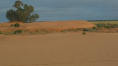 Australia's red center Sand dune desert outback landscape Stock Footage