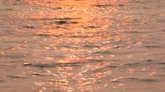 Solar path at sunset Stock Footage