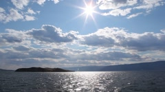 Baikal. The view from the ship Stock Footage