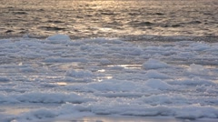 Waves and ice in winter Stock Footage