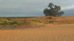 Clouds over Sand dune desert outback Australia landscape - stock footage