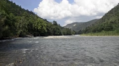 River Laba in the Caucasus Stock Footage