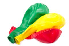 Three  deflated balloon Stock Photos