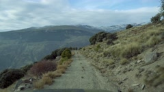 Offroad up to 2700m with a Jeep Wrangler, Andalusia, Spain Stock Footage