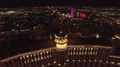The Bellagio, Las Vegas- 4K Night Aerail Footage Stock Footage