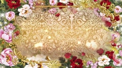 Wedding Video Background Loop 03 Frame Stock Footage