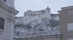 Stock Video Footage of Amazing view of Hohensalzburg Fortress in Salzburg
