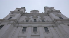 Low angle view of Salzburger Dom Cathedral in Salzburg Stock Footage