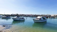 Harbor from Lagos in Portugal Stock Footage