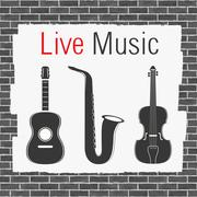 Live Music - stock illustration