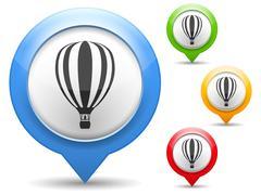 Stock Illustration of Hot Air Balloon Icon